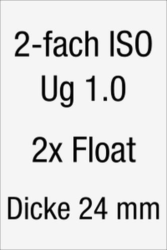 Isolierglas allgemeiner Konfigurator 2-fach mit Wärmeschutz-Beschichtung 1,0 (Ug-Wert 1,0 – 1,90 W/m2K)