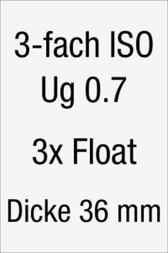 Isolierglas allgemeiner Konfigurator 3-fach