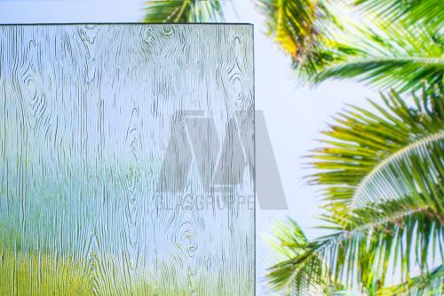 Ornamentglas Madera 176 weiß 4 mm