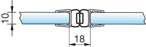 Magnetschienenset, 180° (2×180°), 6/8mm – KU0