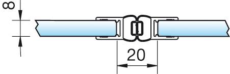 Magnetschienenset, 180° (2×180°), 6/8mm – KU7