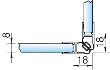 Magnetschienenset, 90° (2×45°), 6/8mm – KU0