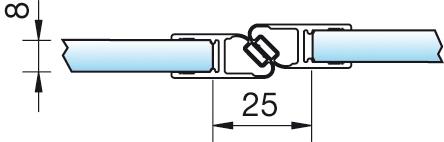 Magnetschienenset, 180° (2×90°), 6/8mm – KU7