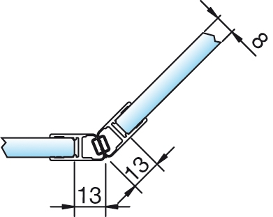 Magnetschienenset, 135° (2×67,5°), 6/8mm – KU0