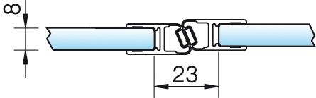 Magnetschienenset, 180° (2×135°), 6/8mm – KU0