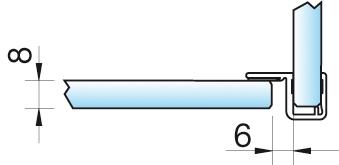 Dichtprofil, Eckanschlag 90°, 6/8mm – KU0