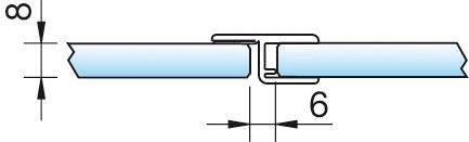Dichtprofil, Anschlag 180°, 6/8mm – KU0