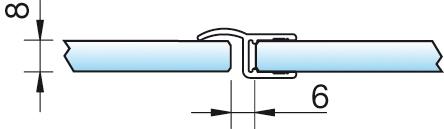 Dichtprofil, Mitteldichtung 180°, 6/8mm – KU0