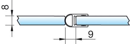 Dichtprofil, Streifdichtung, 6/8mm – KU7