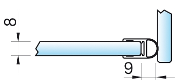 Dichtprofil, Streifdichtung, 6/8mm – KU0