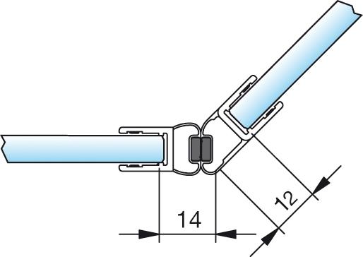 Magnetschienenset, 135°(45°/180°), 6/8mm – KU7