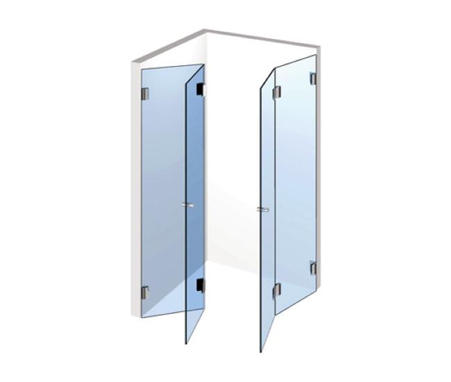Eckduschen – Zwei Falttüren