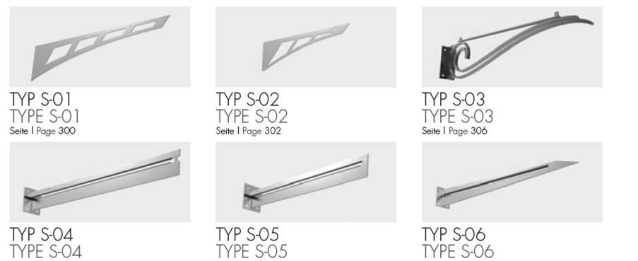 Vordachsysteme mit Schwertern