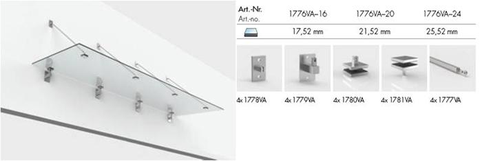Vordachsysteme mit Zugstangen